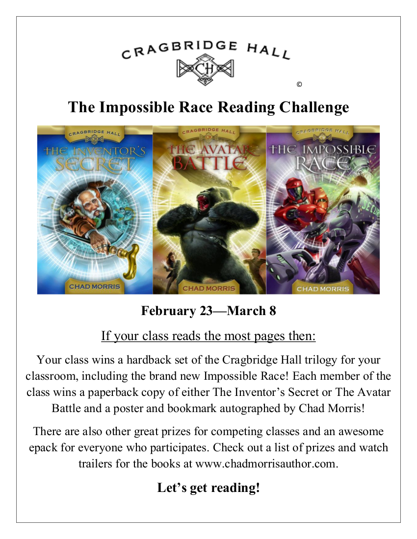 The Impossible Race Reading Challenge Poster